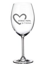 La maison du bar Verre à vin Grand-Papa je t'aime