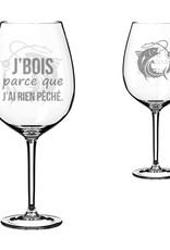 La maison du bar Verre à vin rien pêché