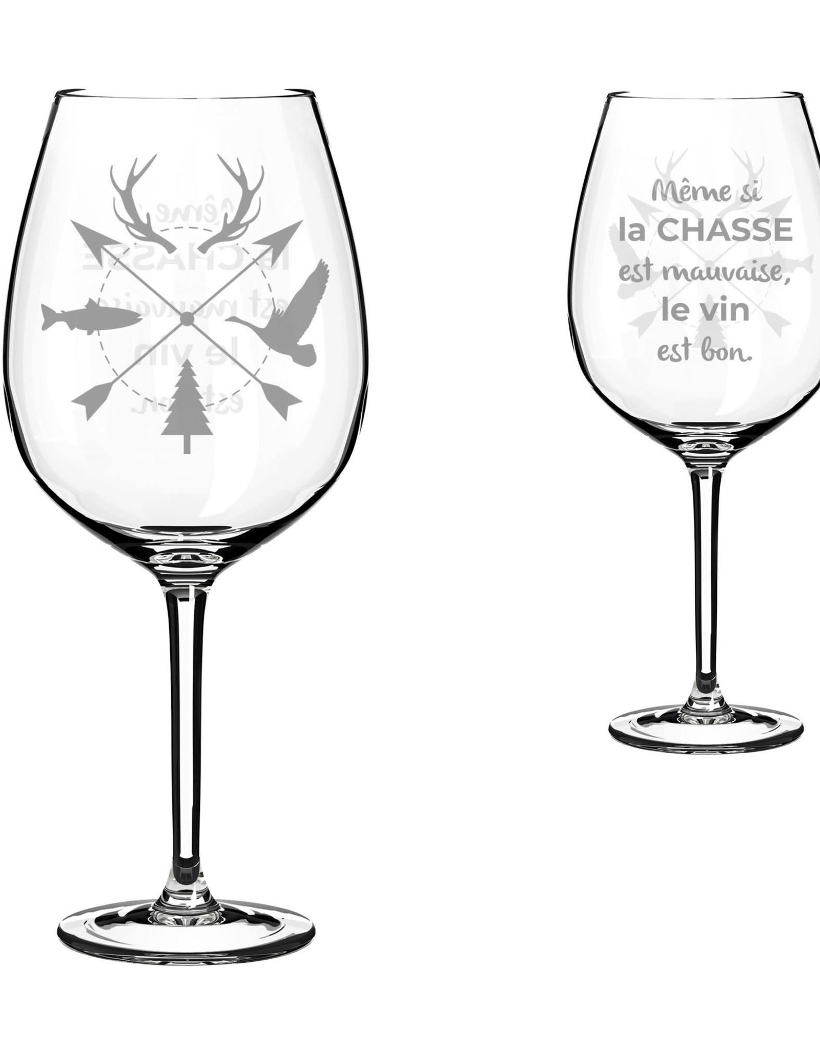 La maison du bar Verre à vin chasse