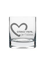 La maison du bar Verre à whisky Grand-papa je t'aime