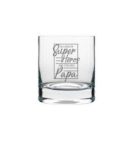 La maison du bar Verre à whisky Super héros papa