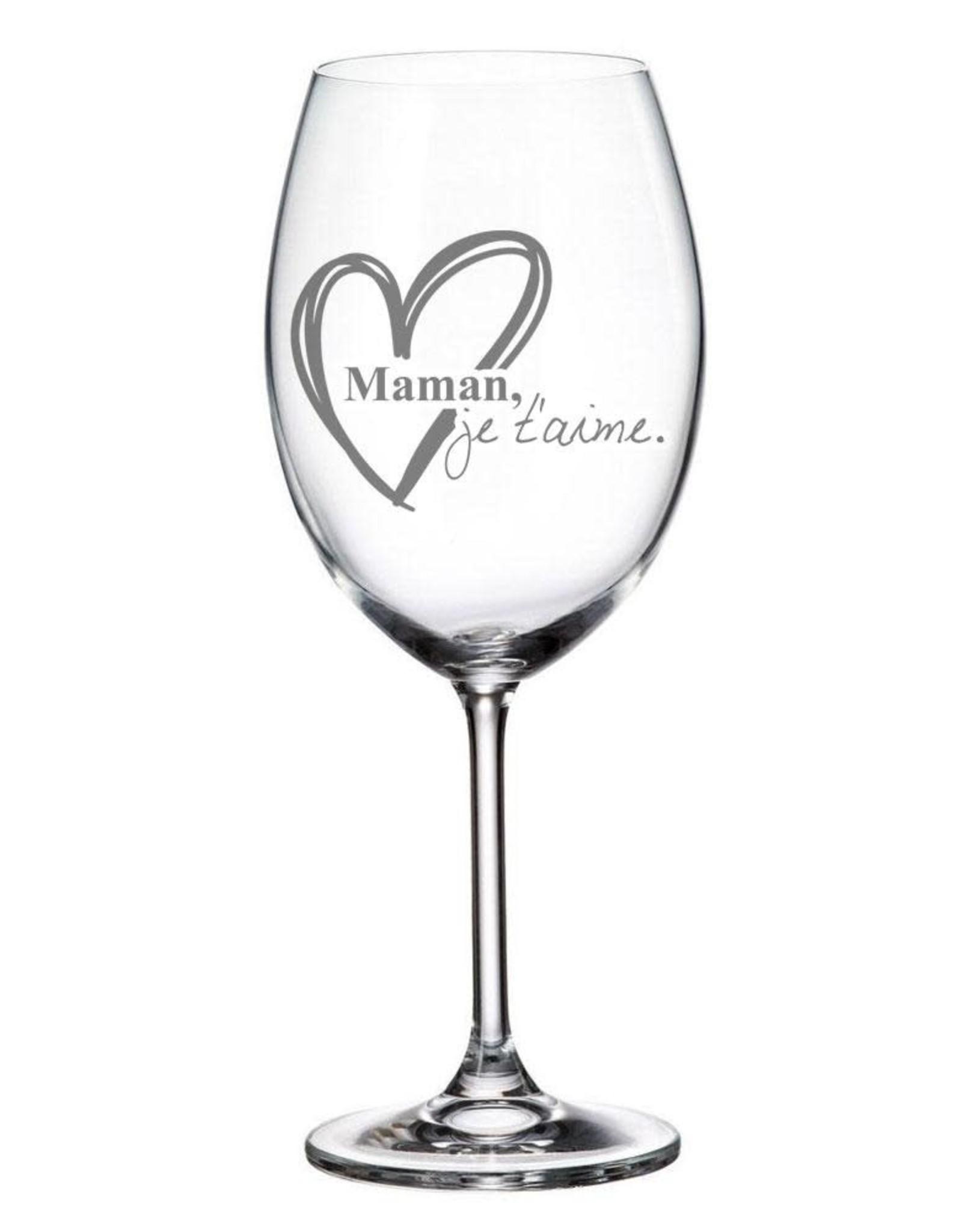 La maison du bar verre à vin Maman, je t'aime