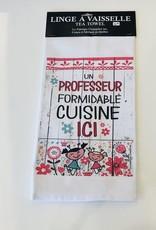 Fabrique Champêtre Linge à vaisselle professeur cuisine (fleurs)