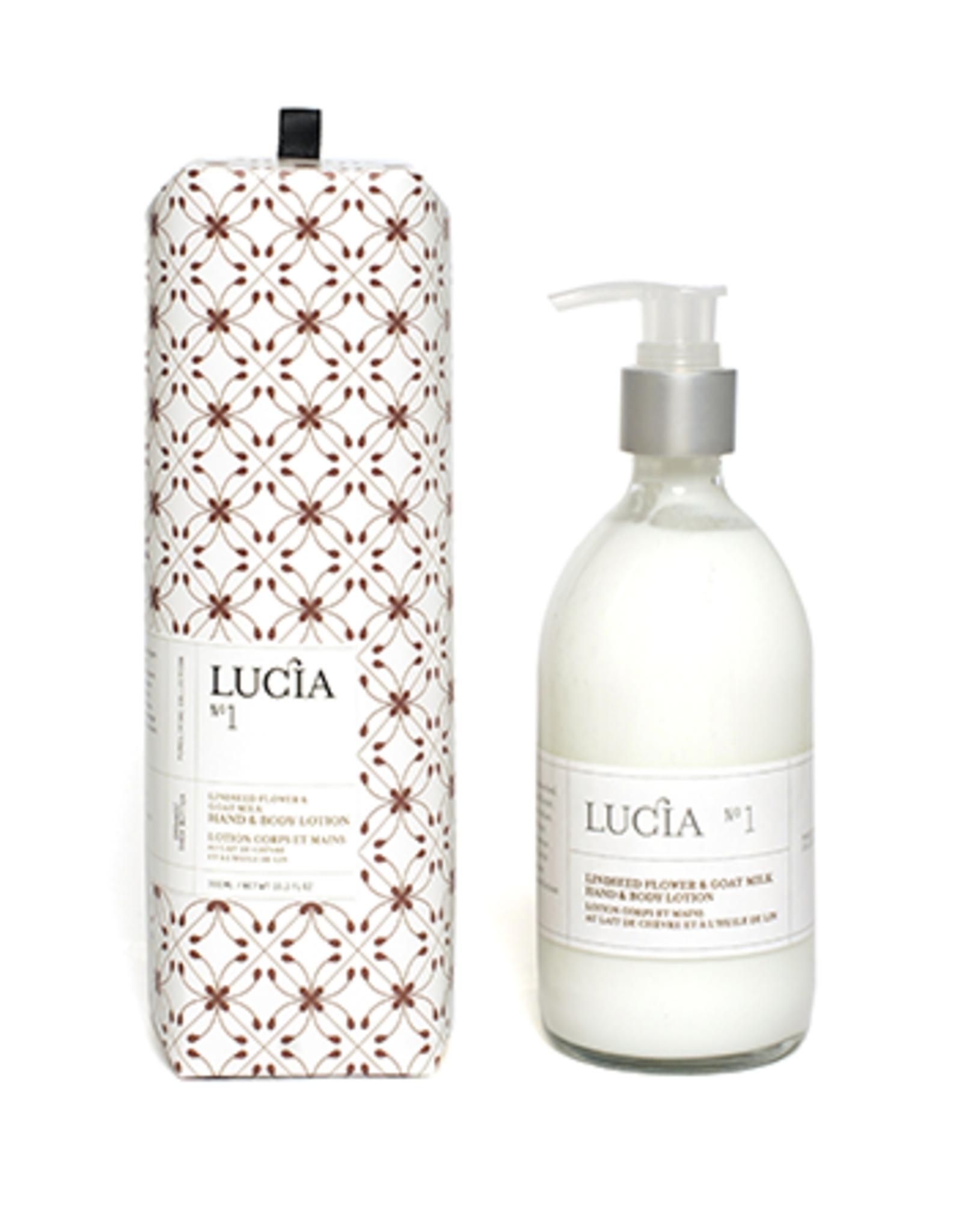 Lucia  par  Pure Living Lotion lait de chèvre et à l'huile de lin