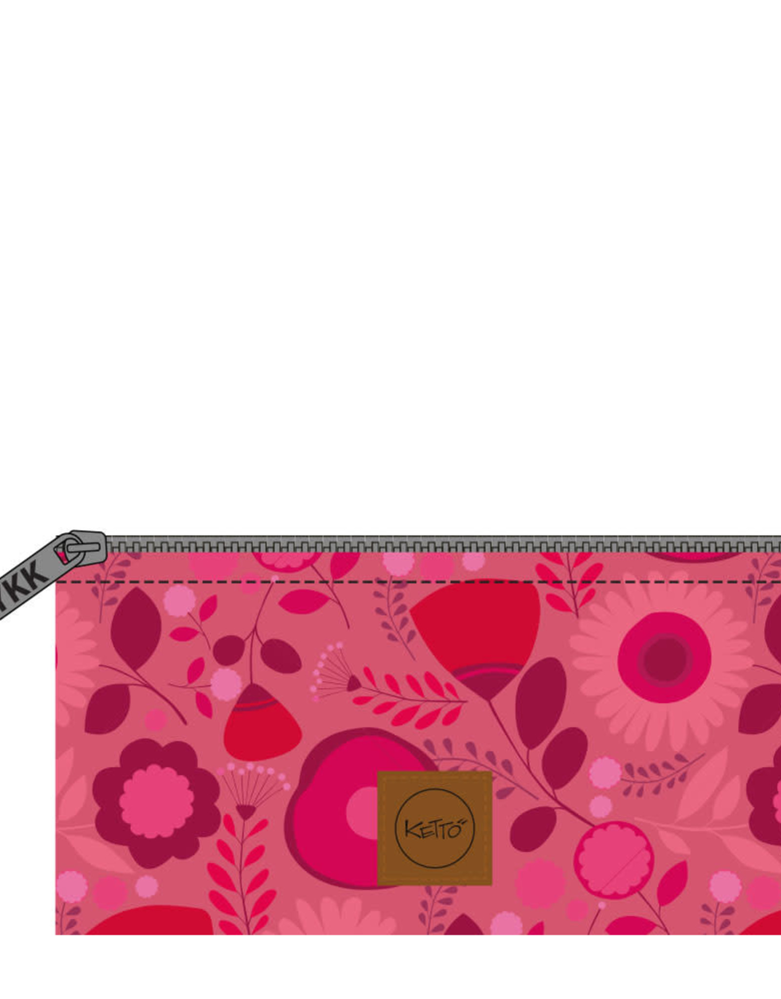 Ketto Petite pochette fleurs roses