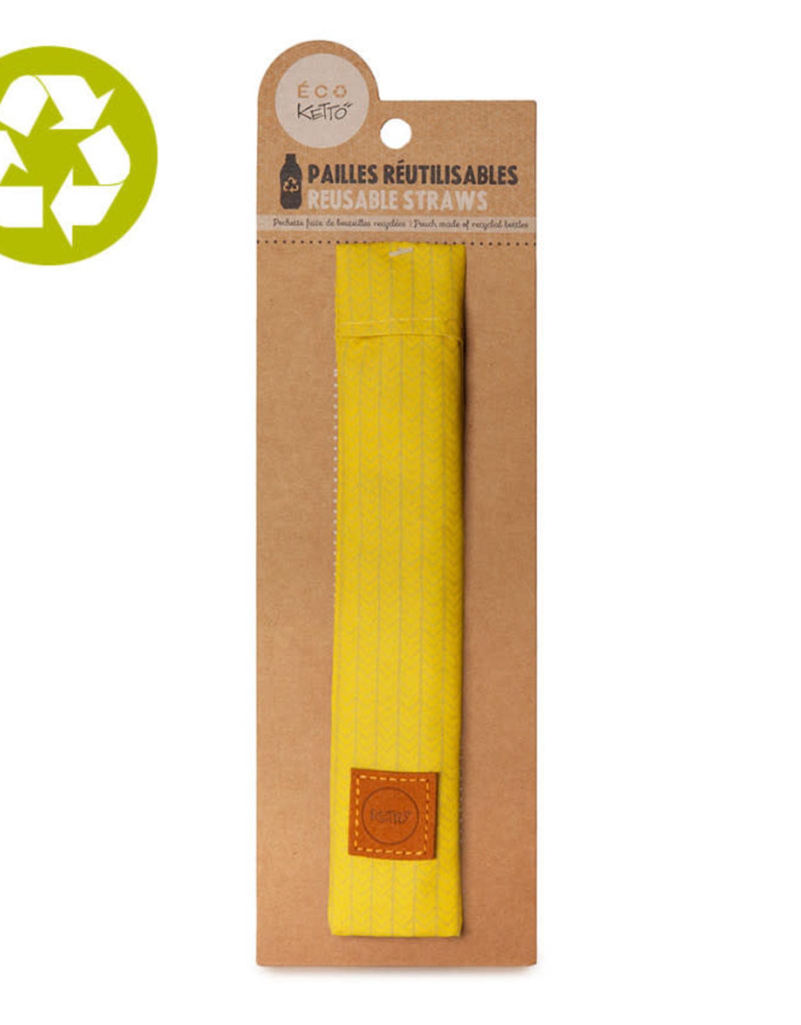 Ketto Pailles bambou tricot jaune