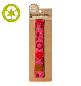 Ketto Pailles en bambou fleurs roses