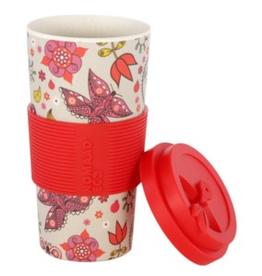 NOMAAD Tasse en bambou fleurs et papillons