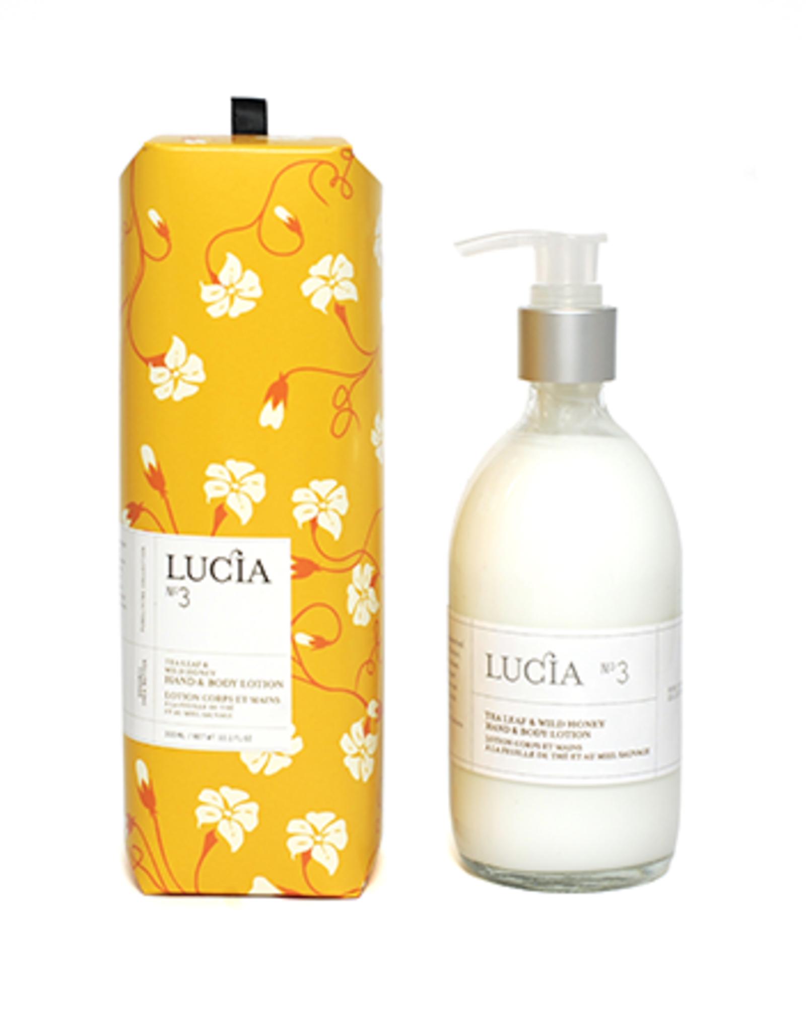 Lucia  par  Pure Living Lotion feuille de thé et miel sauvage