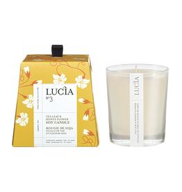 Lucia  par  Pure Living Bougie de soja feuille de thé et miel sauvage 20 hr