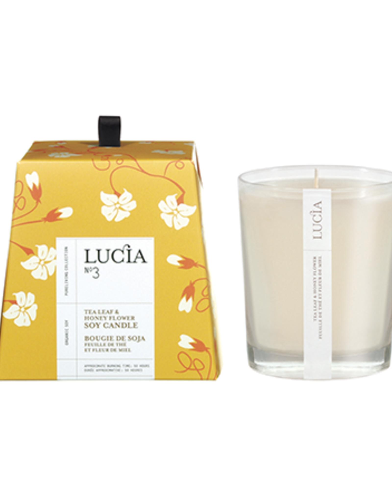 Lucia  par  Pure Living Bougie soja feuille de thé et miel sauvage 50 hr