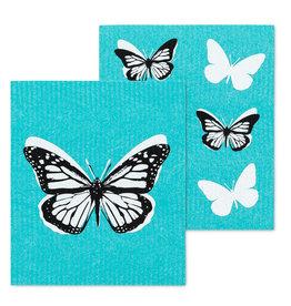 ens 2 lingettes papillons bleus