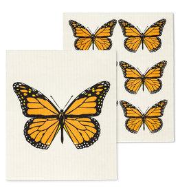 ens 2 lingettes papillons orangés