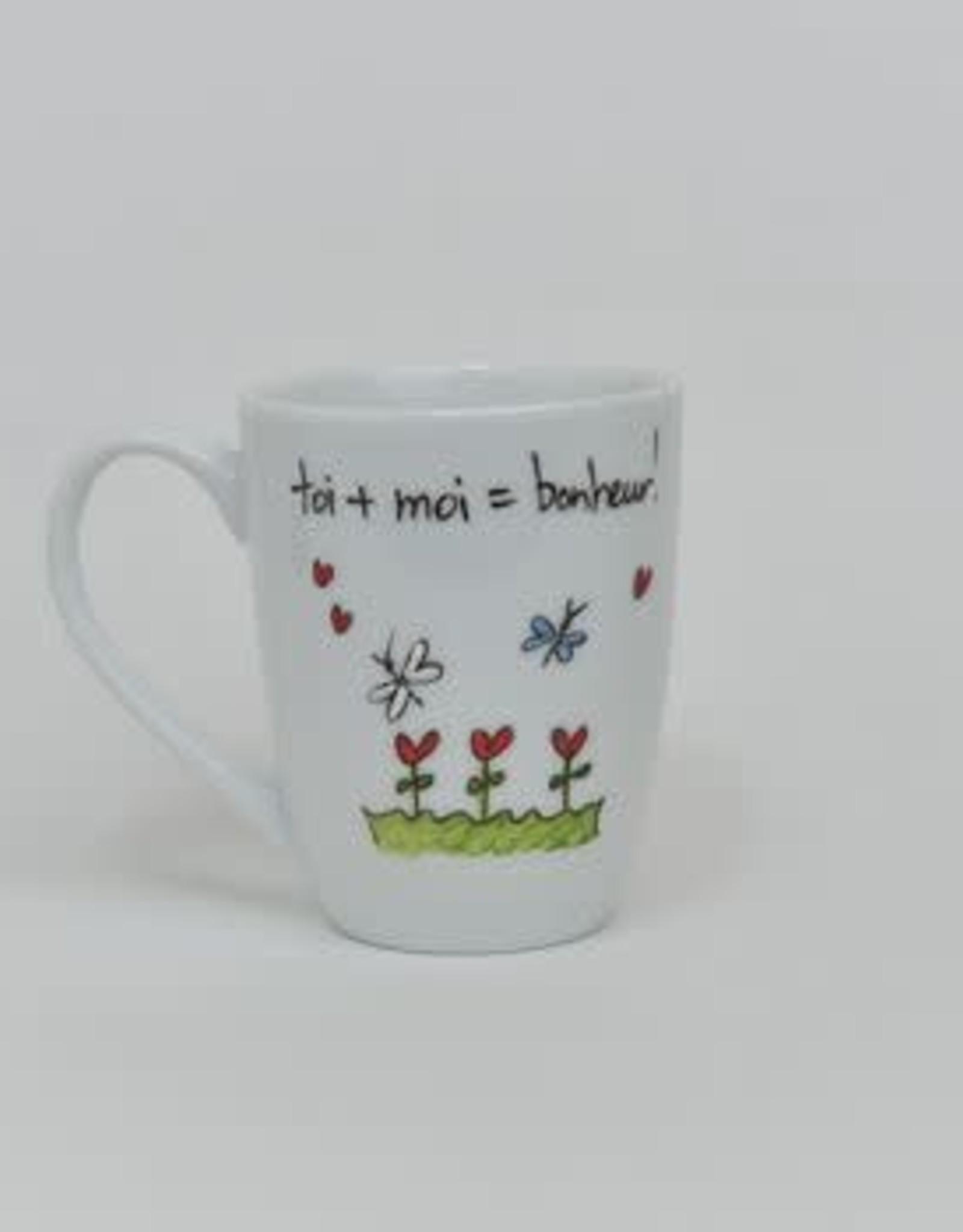 MA GRAND'NOIRE Tasse  Toi + moi = bonheur!