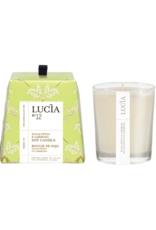Lucia  par  Pure Living Bougie de soja Eucalyptus et gardenia  20hr