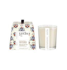 Lucia  par  Pure Living Bougie de soja Lotus bleu et orange   20hr