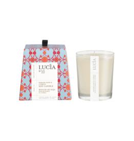 Lucia  par  Pure Living Bougie de soja Rose damas et cyprès  20hr