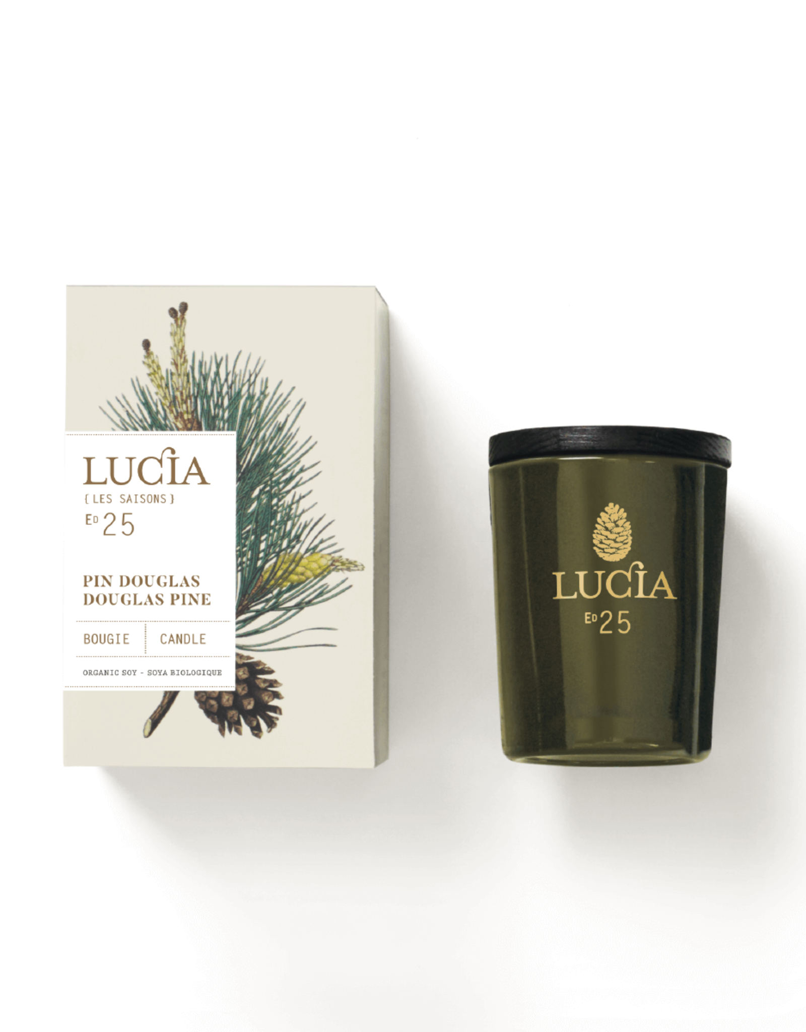 Lucia  par  Pure Living Bougie parfumée Pin Douglas  20 hr