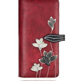 ESPE Portefeuille clutch Lotus Rouge