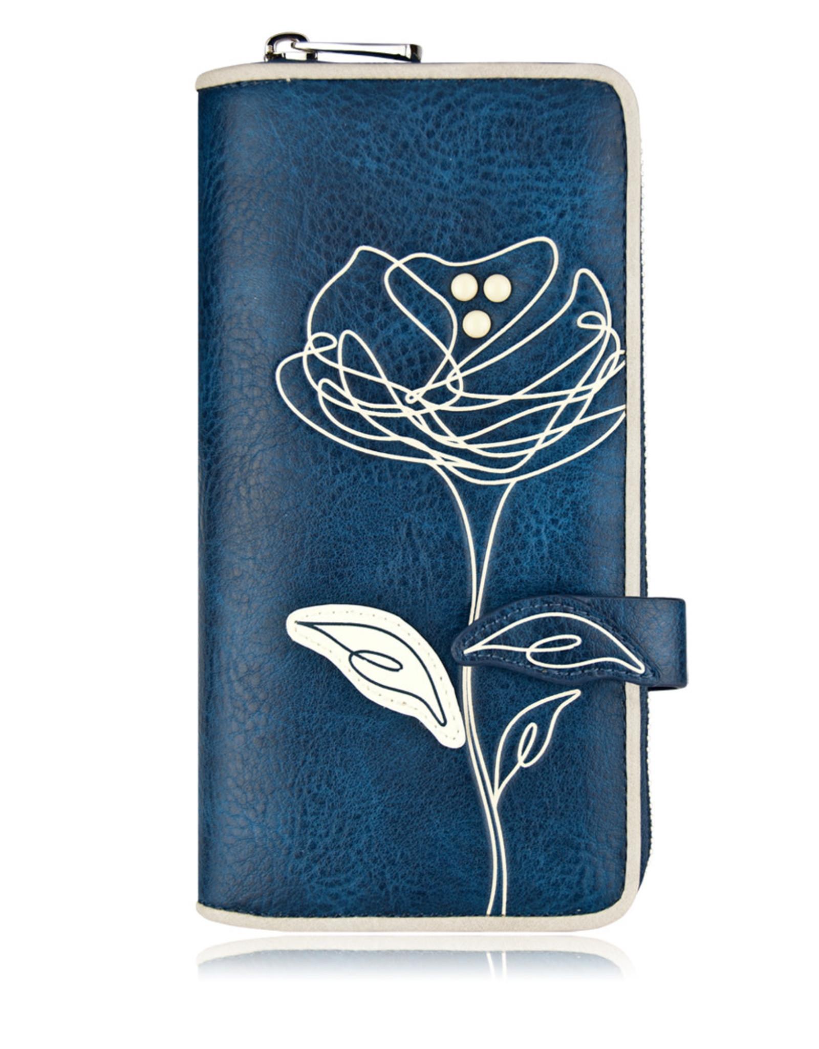 ESPE Portefeuille clutch Rosie bleu