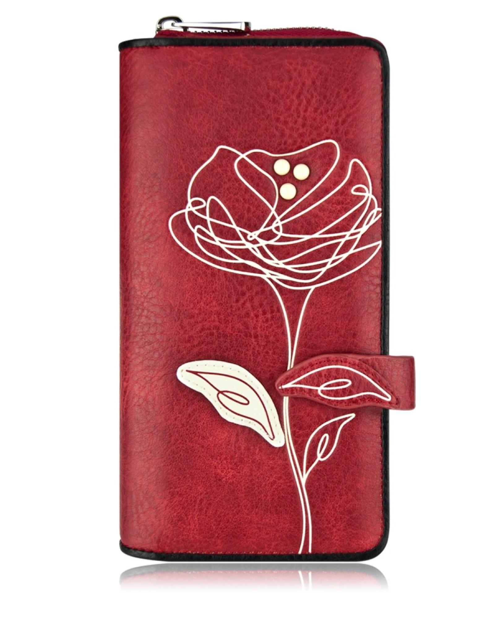 ESPE Portefeuille clutch Rosie Rouge