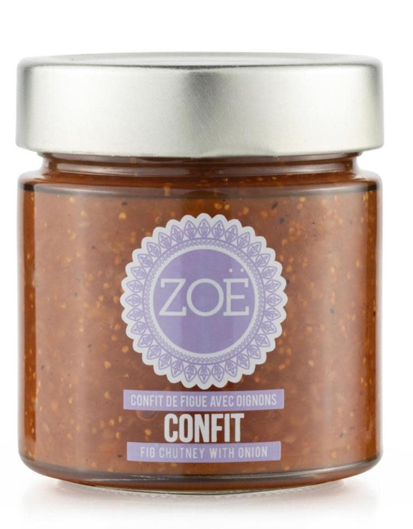 Zoé huile Confit de figues et oignons