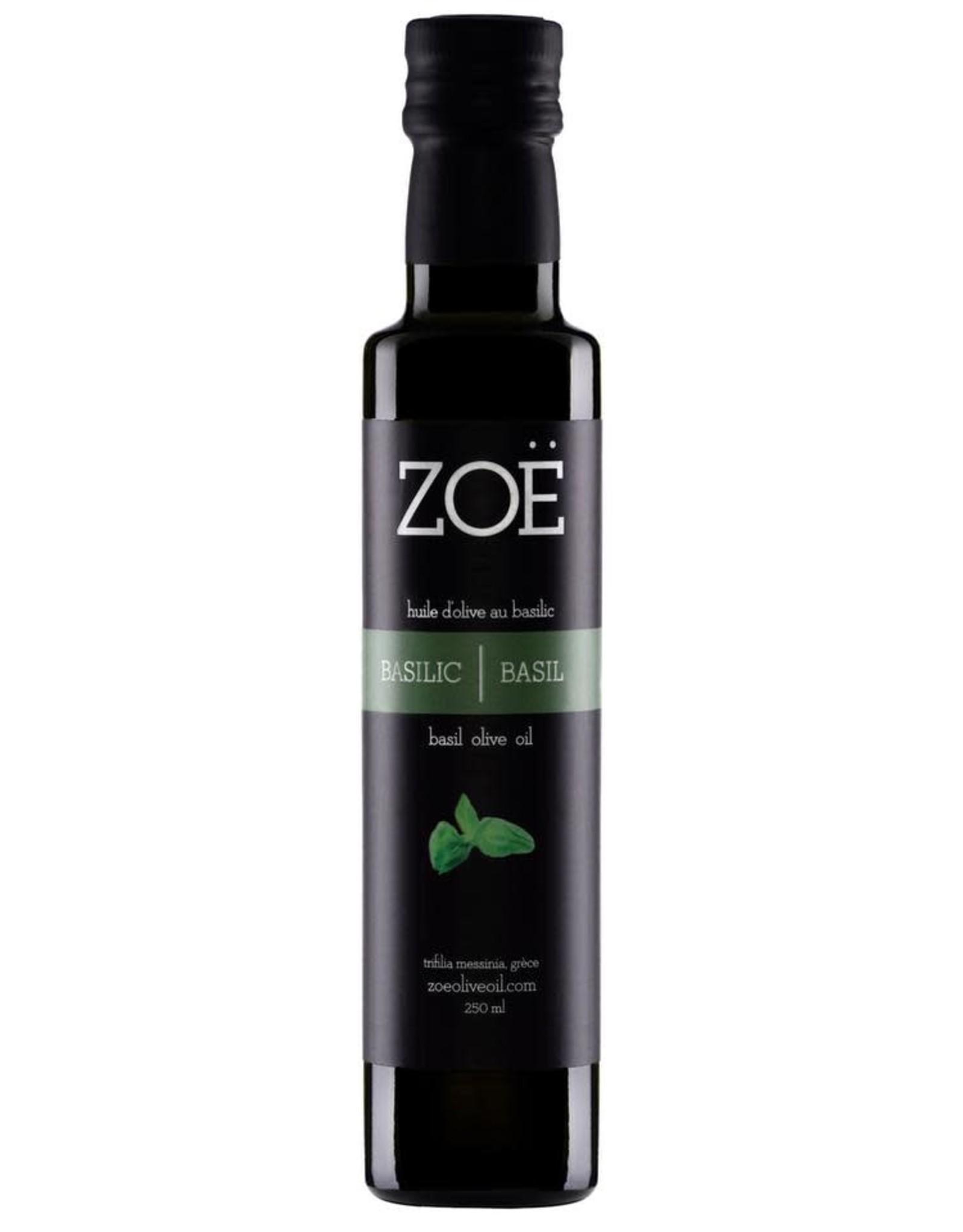 Zoé huile Huile d'olive au Basilic