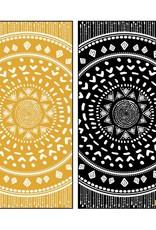 Solem Serviette  Mandala noir & Jaune