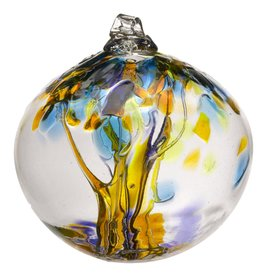 Kitras Art Glass Boule Arbre  -  Joie  6""