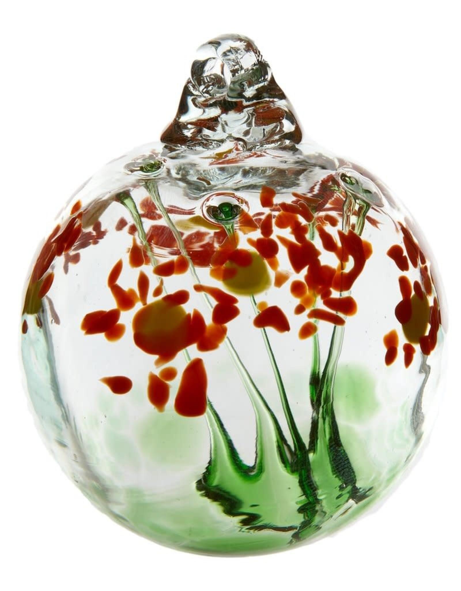 """Kitras Art Glass Boule  - Amitié  - orangé  2"""""""