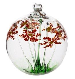 """Kitras Art Glass Boule de fleur - Bon Anniversaire 6"""""""