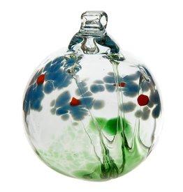 "Kitras Art Glass Boule Amitié - bleu  2"""
