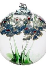 "Kitras Art Glass Boule Amitié  - bleu   6"""
