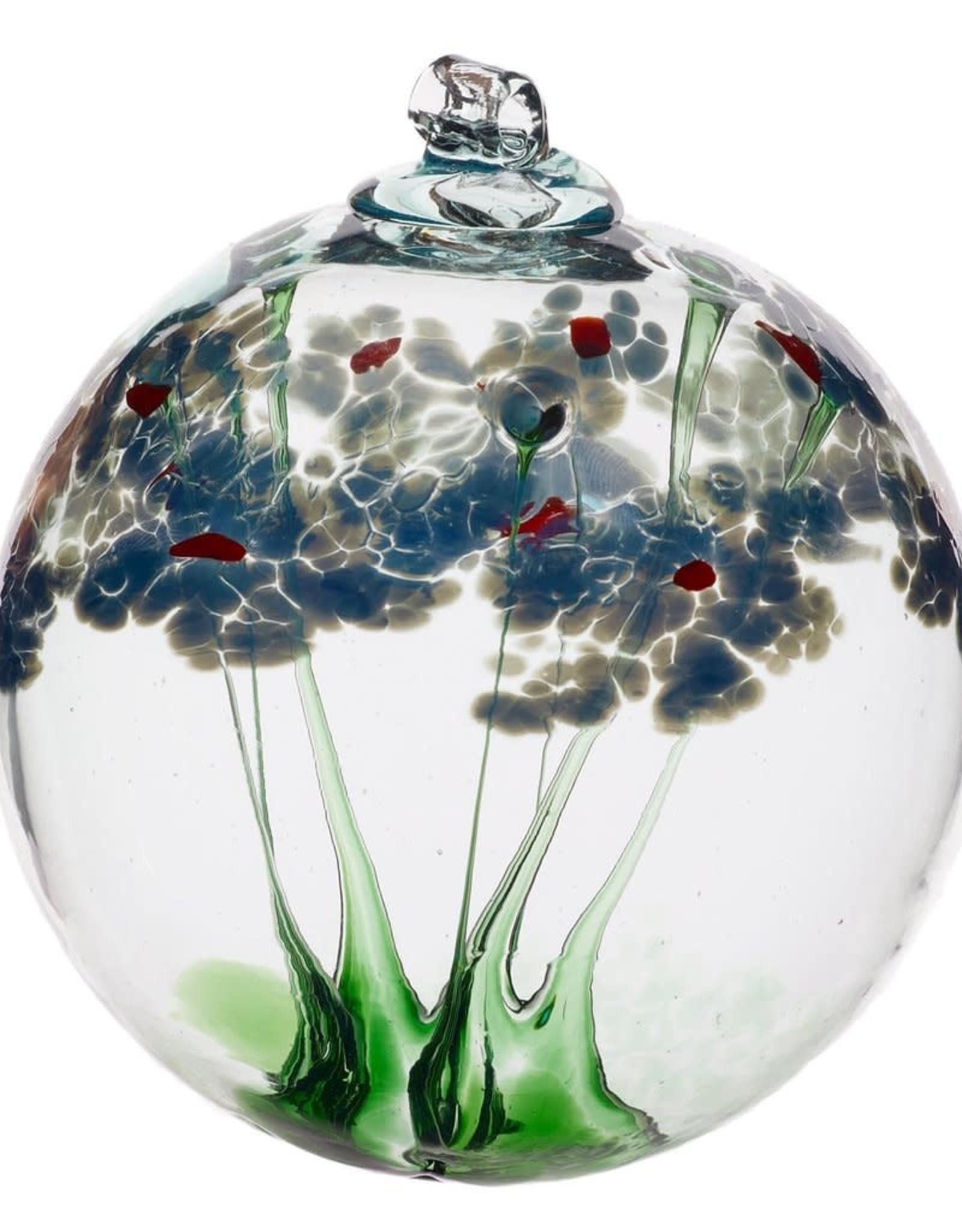 """Kitras Art Glass Boule de fleur - La sympathie 6"""""""