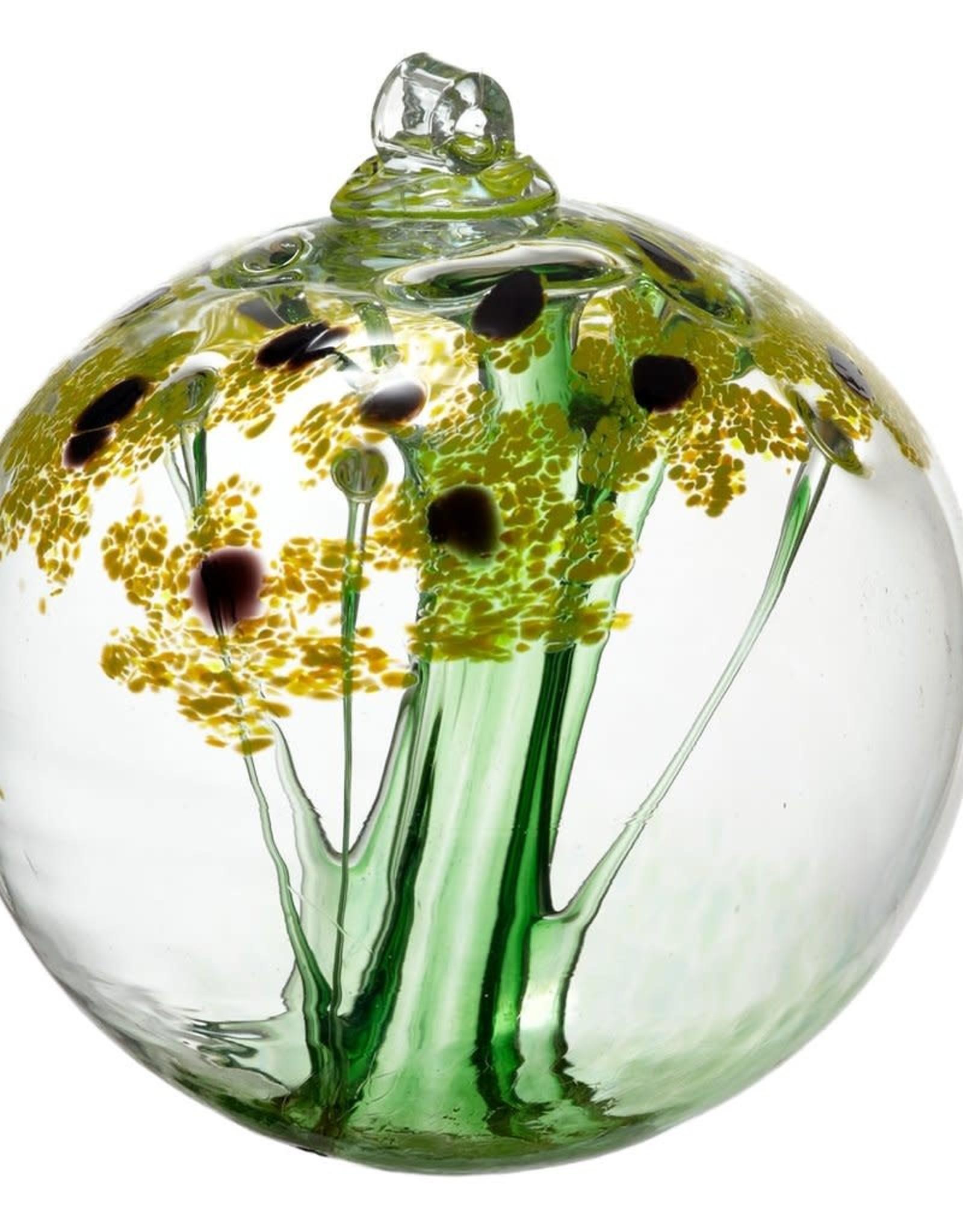 """Kitras Art Glass Boule Amitié - jaune  2"""""""
