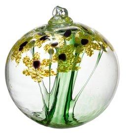 "Kitras Art Glass Boule de fleur - Merci  2"""