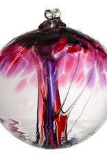 Kitras Art Glass Boule Arbre - Amour  6""