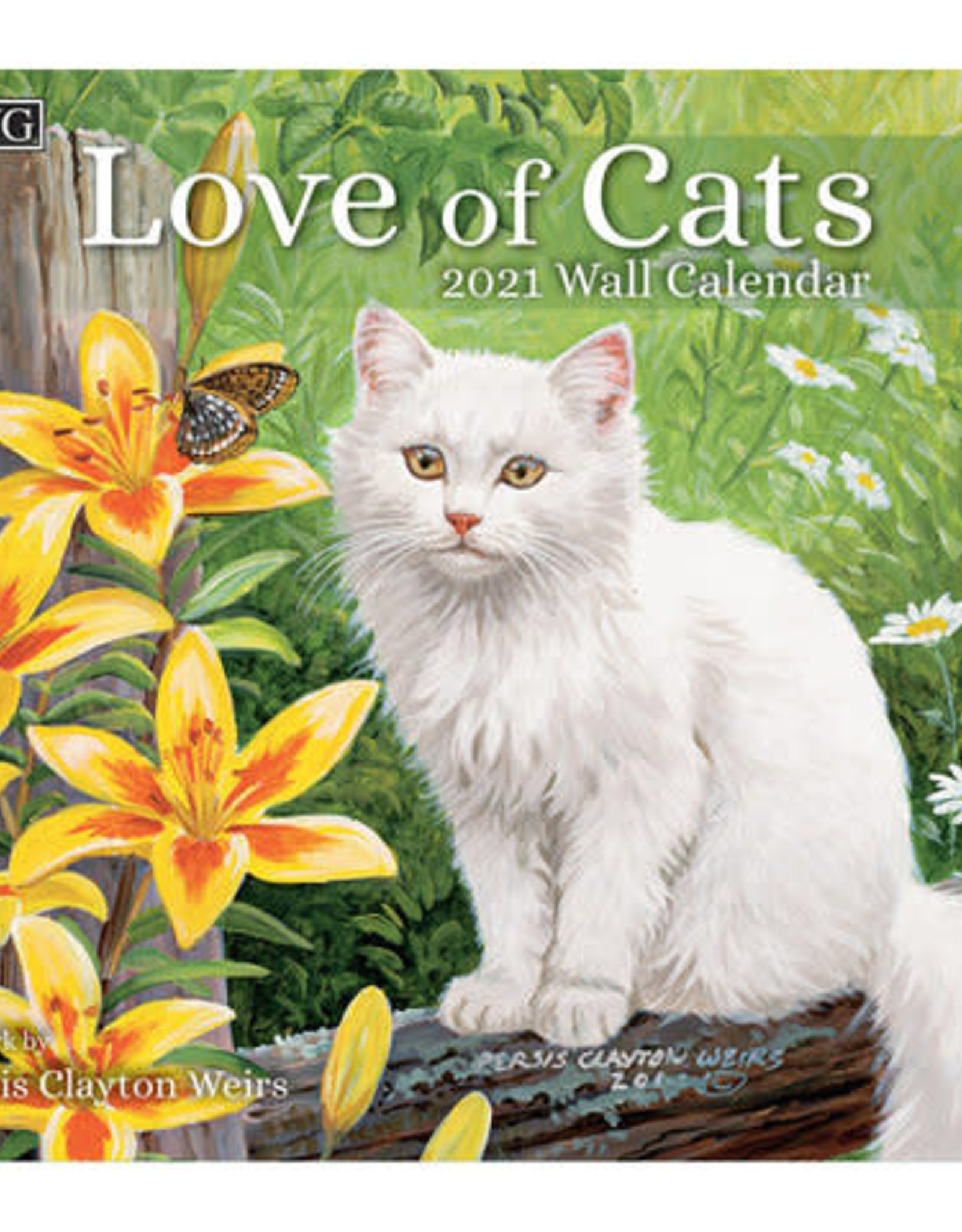 Lang Calendrier Love of cats 2021