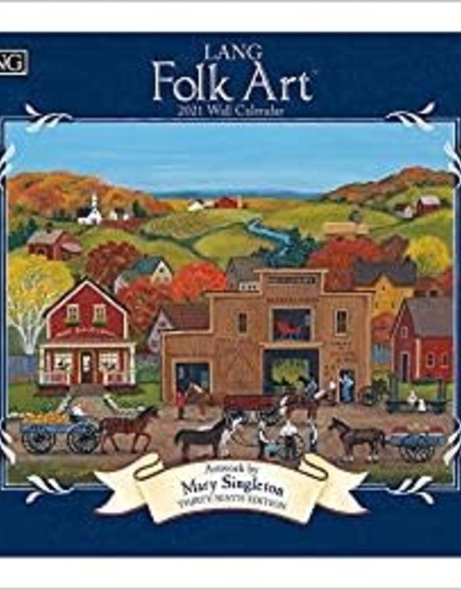 Lang Calendrier 2021 Folk Art