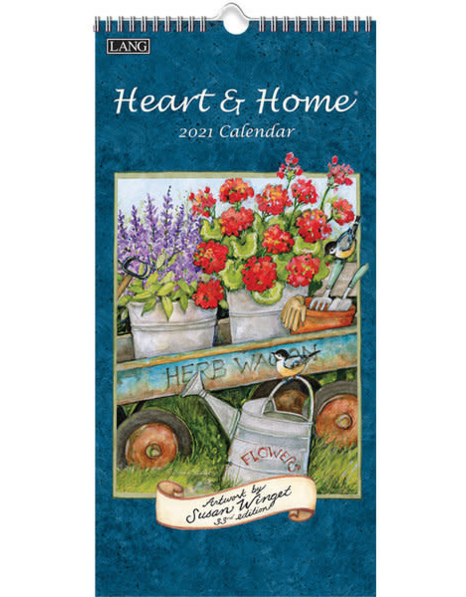 Lang Petit calendrier 2021 Heart & Home
