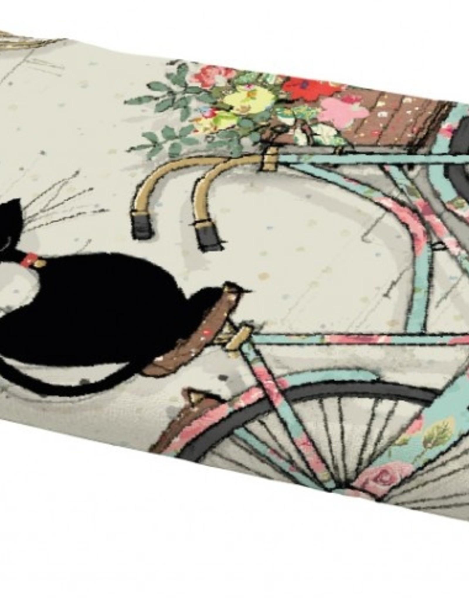 Linge à vaisselle chat vélo