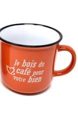 Tasse je bois du café pour ...