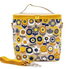 Sac à lunch Fleurs jaune et bleu