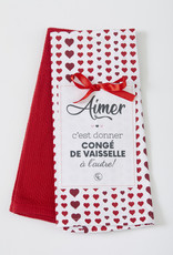 Chantal Lacroix Linge à vaisselle - coeur