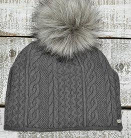 Baluchon Tuque grise tricot #1402-1055