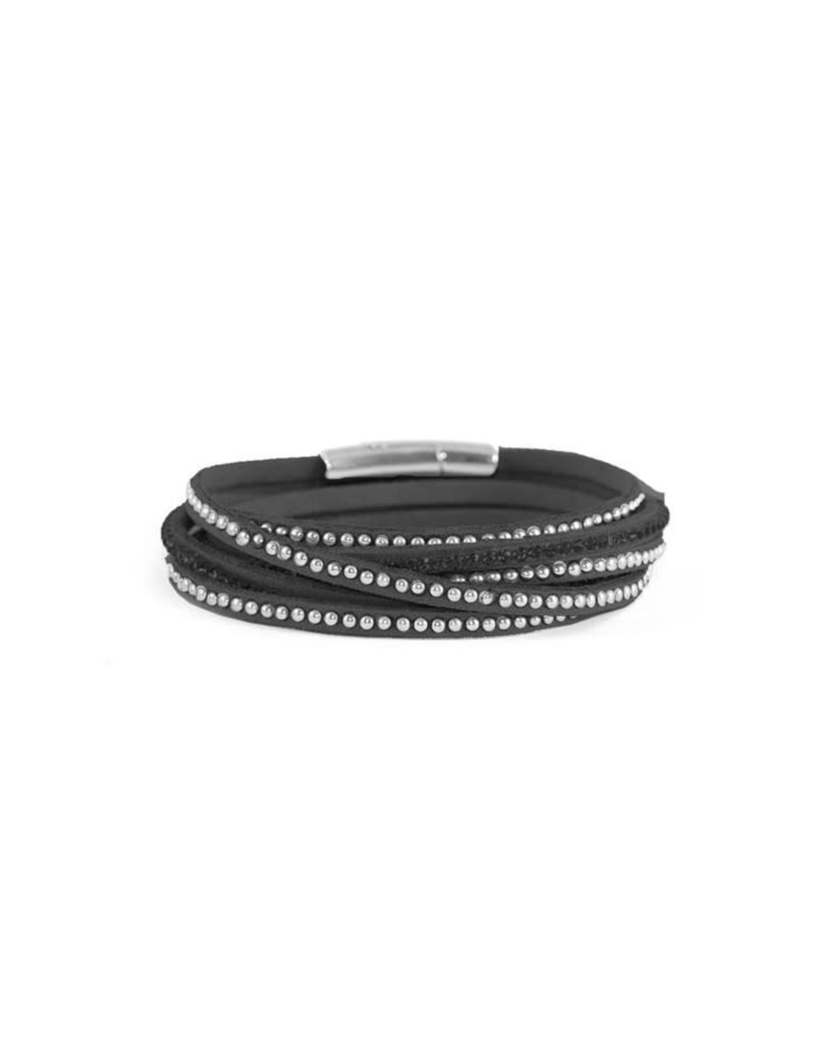 Caracol Bracelet Noir et argent