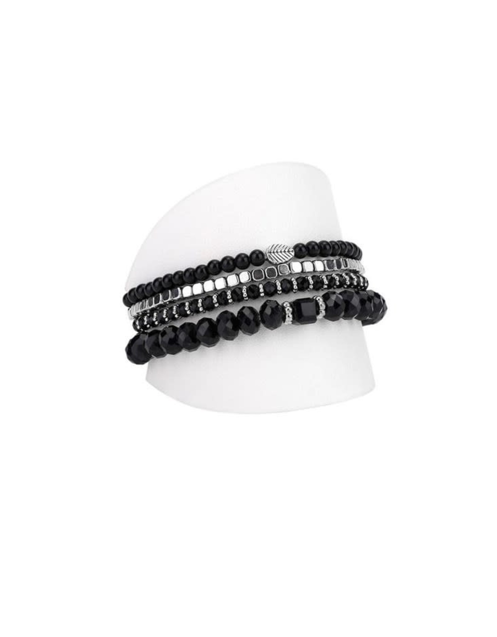 Caracol Ens 4 bracelets Noir - #3124