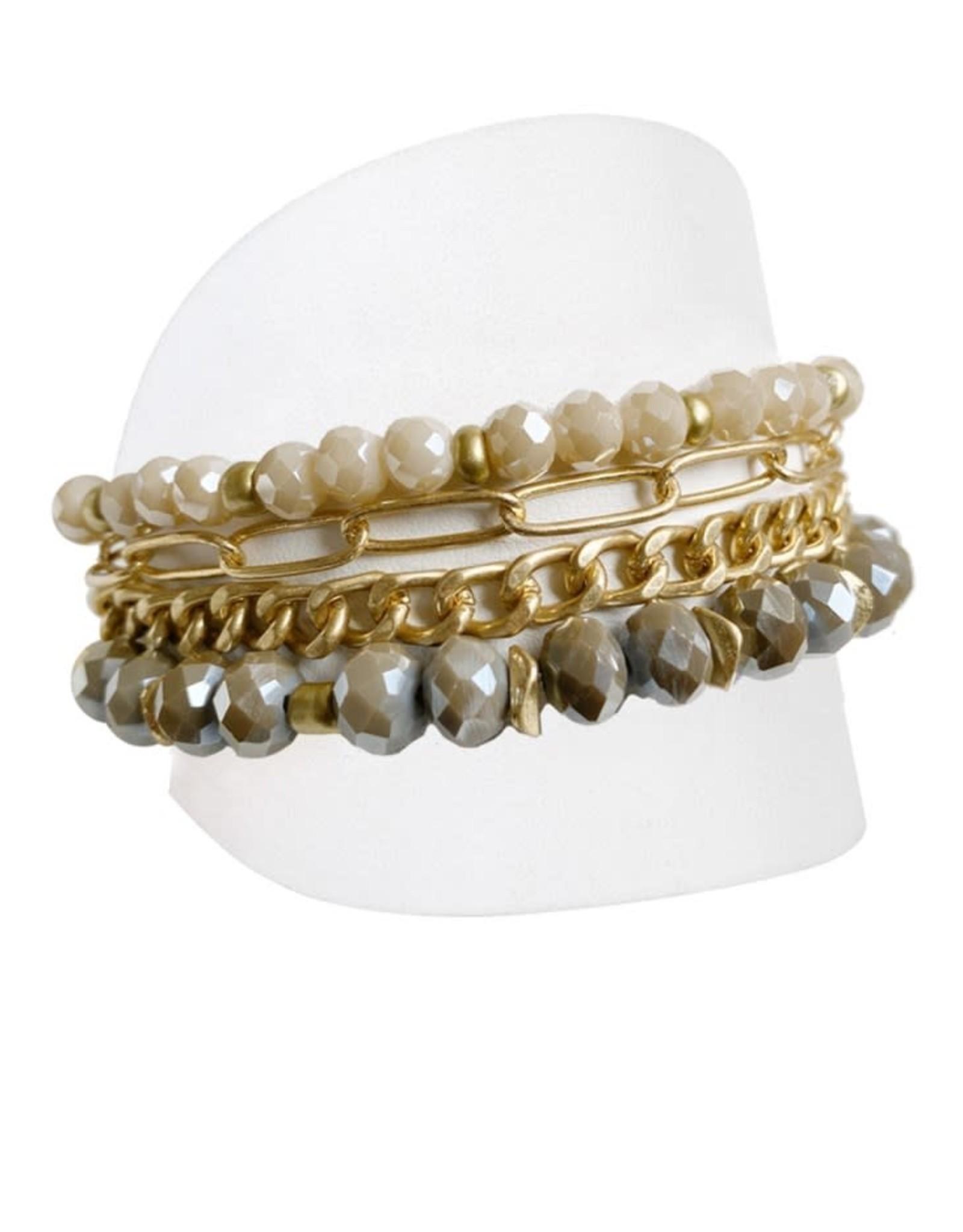 Caracol Bracelet or et brun  - #3185