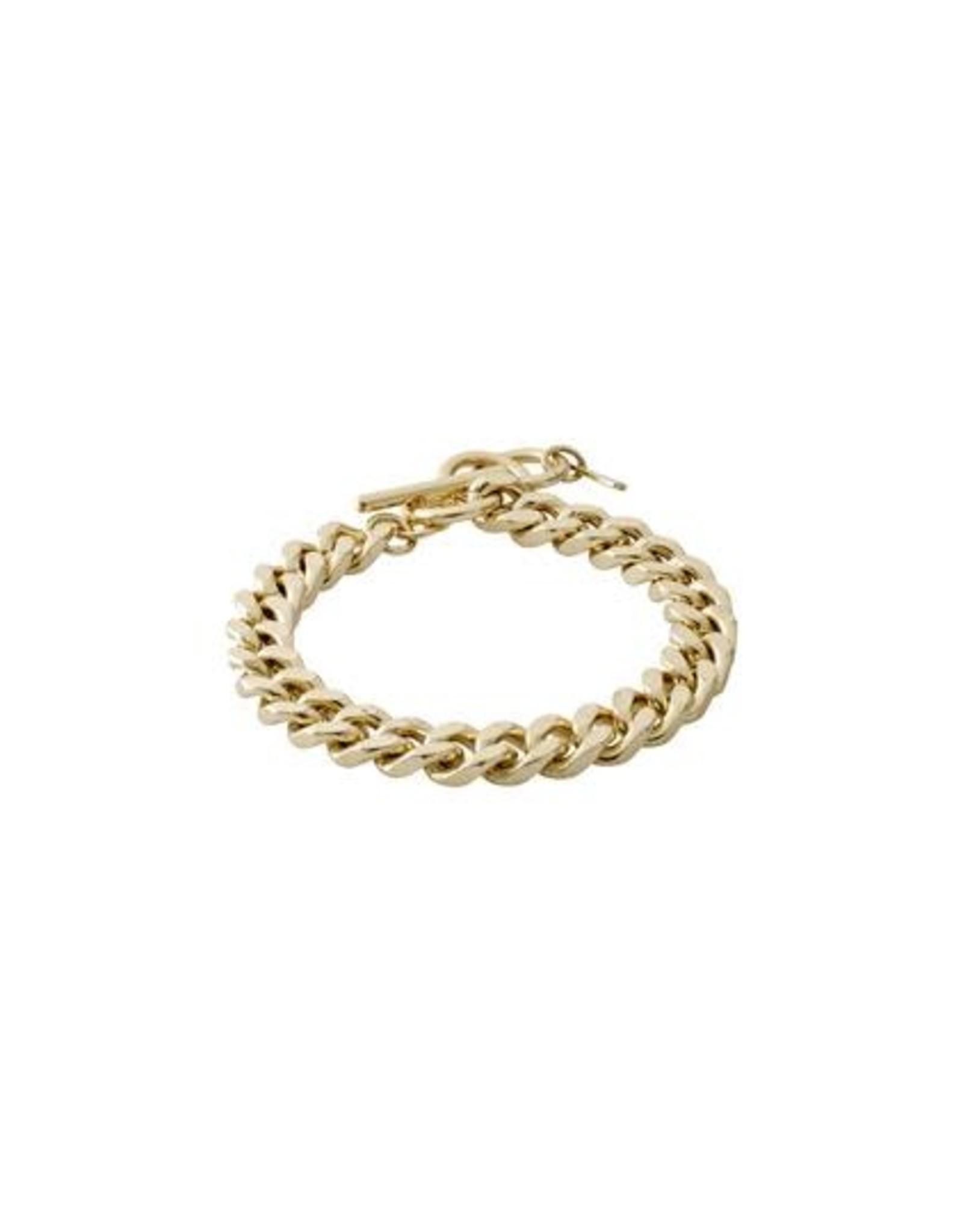Pilgrim Bracelet maille large - Or