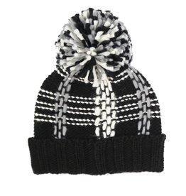 Fraas Tuque tricot noir et blanche